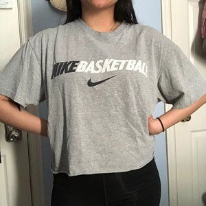 Nike basketball crop short sleeve top